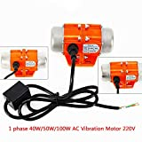 XianXiu AC Vibration Motor Asynchronous Vibrator Rüttler 1 phase 40W Vibrating 3000RPM