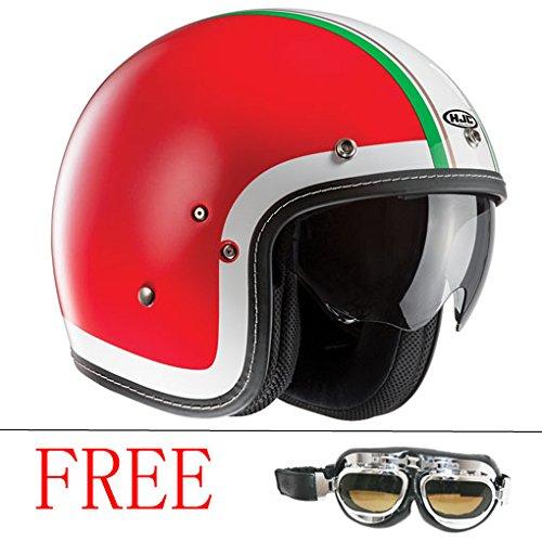 HJC fg-70s Open Face Motorrad Helm + Gratis Leopard Metall silber Rahmen dunkel Brillen