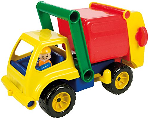 Lena 04356 - Aktive Müllwagen, ca. 30 cm mit Spielfigur