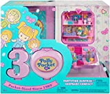 Polly Pocket Cofanetto Ricordo Partytime Surprise per Il 30° Anniversario, con Mini Bambola e Accessori, Giocattolo per Bambini 4+ Anni, GJJ51