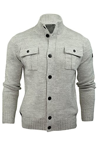 Dissident 'Parkhouse' - Pull style cardigan pour homme - boutons Gris Clair