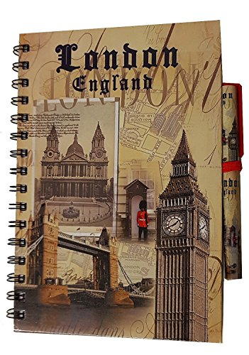cremefarbener London Alles Notizblock mit passendem Stift/London, England/Big Ben/Tower Bridge/ändern der Guard/St. Paul 's Cathedral/Großbritannien/UK Note Book/Notizblock/Souvenir Speicher/MEMORIA./Modisch, Cool British Souvenir./Eine einzigartige und unvergessliche Geschenk./Carnet/Notizbuch/Taccuino/cuaderno. (Shop Handtaschen Einzigartige)