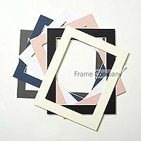 Set di 10-Cornice per foto, da assemblare, colore: bianco, nero, 14x11 for image size 12x8