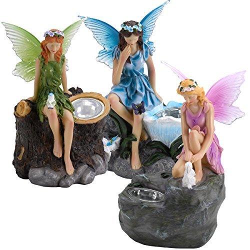 Fairy Statue Solar Spotlights (Triple Pack)