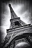 Artland QualitätsbilderBild auf Leinwand Leinwandbilder Wandbilder 60 x 90 cm Städte Paris Foto Schwarz Weiß D2GX Paris Eiffelturm