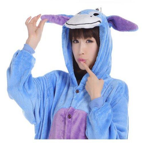 Kigurumi Pajamas Déguisement grenouillère pour adulte Bourriquet Taille M