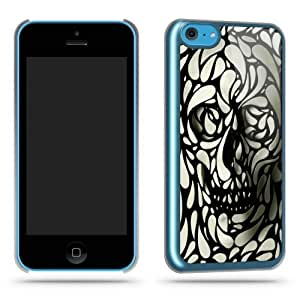 Skull Pattern Cool Retro Funky Quirky Phone Case Shell for iPhone 5C