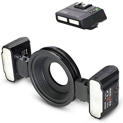 Meike Makroblitz Ringblitz kompatibel mit Nikon Digital SLR Kameras Blitzaufnahmen im Makrobereich - MK-MT24