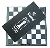 Vixen Premium-Pvc Laminiert Faltbar Schachbrett Checker Spielbrett -13 X 13 Zoll
