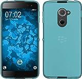 PhoneNatic Case für BlackBerry DTEK60 Hülle Silikon türkis, transparent + 2 Schutzfolien