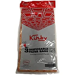 Kirby Heritage 1HD 3pk ovale Opening Paper Bag, Style 2. Long Axis Vert icaly Orien Ted by Kirby