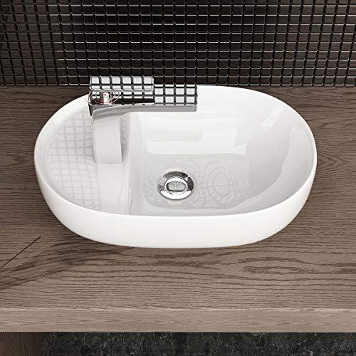 Waschbecken24 DESIGN KERAMIK AUFSATZWASCHBECKEN WASCHSCHALE HANDWASCHBECKEN GÄSTE WC TOP A301