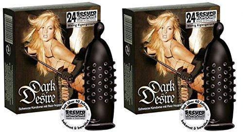 48 Schwarze Kondome mit Reiz- Noppen Inhalt: 48 Reiznoppenkondome genoppte Kondome