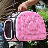 KKZLL Haustier Tasche aus einer tragbaren Tasche Hund Tasche Katze Reisetasche , pink , m