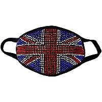 zarapack Luxus Strass 2Ebene Fashion Baumwolle Gesicht Maske Mund Maske Muffel preisvergleich bei billige-tabletten.eu