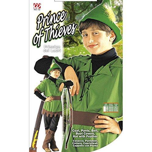 derkostüm Waldläufer Räuberkostüm Kinder 158 cm 11-13 Jahre Mittelalterkostüm Räuber Robin Hood Kostüm Karnevalskostüme Jungen Disney Märchen Faschingskostüm Mittelalter Helden Märchenkostüm (Robin Hood Kostüm Für Jungen)