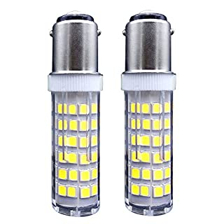 B15 LED Birne / [2er Pack] SFTlite SBC Ba15d 5 Watts LED Glühbirne 75SMD LEDs Nicht Dimmbar - Double Connect Bajonett Kaltes Weiß 6000K 360° Lichtwinkel 500 Lumen - Ersatz für 45W Halogenlampen
