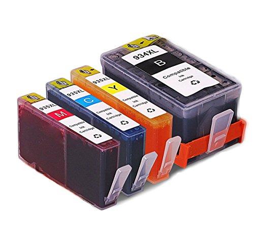 QINK 4PK Neue Aktualisierte Chip für HP 934XL HP 935XL Wiederaufbereitete Tintenpatrone C2P23AE C2P24AE C2P25AE C2P26AE für HP Officejet Pro 6830 6230 6835 6820 6812 6815 6825 6836 Drucker