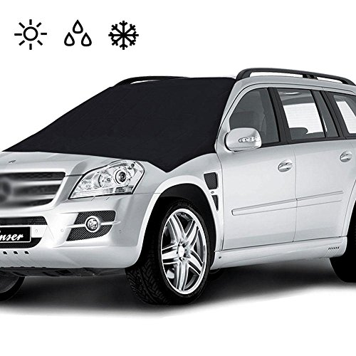 Auto Windschutzscheibe Cover Magnetic, Frost Guard Schneedecke Double Side Ice Shield Design, Sonnenschutz, Wasser, Staub - Passend für Die Meisten Autos, Trucks, SUV (82,5