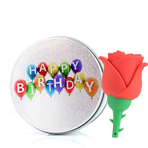 Die Kathedrale Von Port (USB-Flash Drive Memory Stick Fun Süße Rose Blume Rot Pink für Girl Silikon USB Stick mit Schlüsselanhänger 8g/16G/32G/64G rot Birthday 8 GB)
