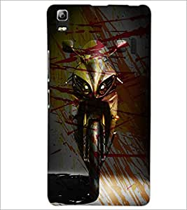 PrintDhaba Bike D-3894 Back Case Cover for LENOVO A7000 TURBO (Multi-Coloured)