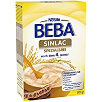 Nestlé BEBA Sinlac Allergenarmer Spezialbrei, 6er Pack (6 x 500g), Babybrei bei Glutenunverträglichkeit, nachdem 4. Monat, milchfrei,sojafrei,glutenfrei,mit Jod, VitaminC und Zink,500g Faltschachtel