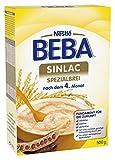 Nestlé BEBA Sinlac Allergenarmer Spezialbrei, 6er Pack (6 x 500g), Babybrei bei Glutenunverträglichkeit, nachdem 4. Monat, milchfrei,sojafrei,glutenfrei,mit Jod, VitaminC und Zink,500g Faltschachtel (Bild: Amazon.de)