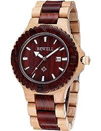 Reloj de madera cálido, cómodo y hecho a mano, madera de arce 100% natural