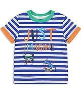 The Essential One - Boys Kids 'Just Imagine' T-Shirt - Finley Fox - 2-3 Yrs - Blue/White/Orange/Green - EOT246