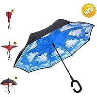 Umbrella, AIGUMI Impermeabile Pieghevole Ombrello Multifunzionale