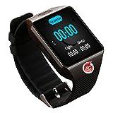 MYJ Smart Uhr Smart Watch Kamera Uhr,Schwarz,A