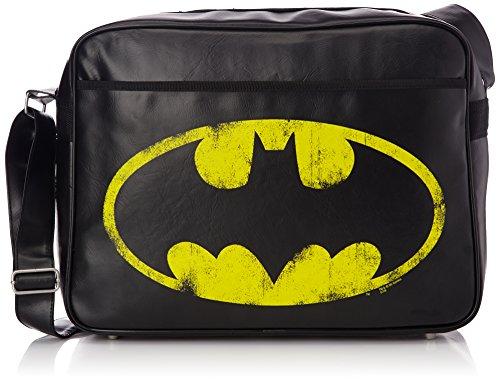 Schuhe Superheld (Logoshirt batman-logo, Umhängetasche–Schwarz, Synthetisch, schwarz (Schwarz) - 128-0526/001_Black)