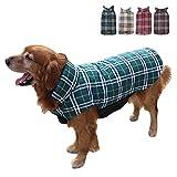 TFENG Hundemantel Hundejacke für Hunde Welpen, Gepolstert Puffer Umkehrbares Design Weste Regenmantel (Grün, Größe L)