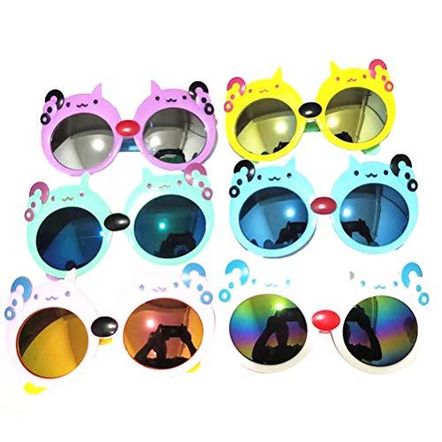 TOYANDONA 6 STÜCKE Katze Party Sonnenbrille Nette Sonnenbrille Lustige Brillen Baby Dekorative Gläser Gastgeschenke Liefert (Mischfarbe)