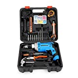 Multi-Function Large Impact Drill Set of 88 Sets, with Hammer Needle-Nosed Pliers 710w
