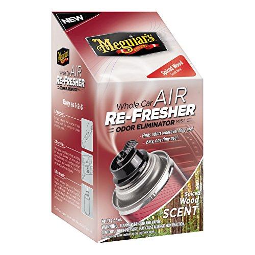 Meguiar's G19702 Whole Car Air Refresher Odor Eliminator (Spiced Wood Scent), 2.5 oz. by Meguiar's