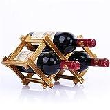 Madaye Solid wood creativo pieghevole rack di vino robusto durevole 3 bottiglie rack di vino 37*21*13cm