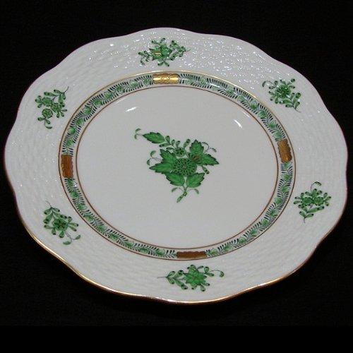 Herend Apponyi vert Teller flach 19cm alte Nr. 517