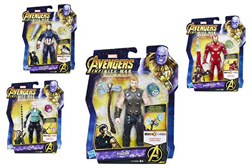 Marvel Avengers Figure with Gem and Accessory (Hasbro E0605EU4)