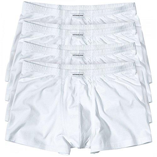 4 GÖTZBURG Basic enganliegende Boxershorts Pant Boxer Herren , Grösse:L - 6 - 52;Farbe:weiss