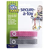 Best Baby Buddy Toddler Toothbrushes - Baby Buddy Secure-A-Toy, Safety Strap Secures Toys, Teether Review