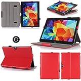 Funda Samsung Galaxy Tab S 8.44G/LTE rojo Ultra Slim piel estilo con Multis Stand–Funda Luxe–Carcasa para Samsung Galaxy Tab S 8,4pouces–Accesorios Tirador xeptio: Exceptional Case.
