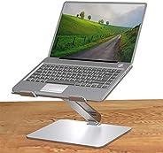 Yiwa Laptopstandaard van aluminiumlegering, draagbaar, voor op het bureau, inklapbaar en multifunctioneel, met koelfunctie