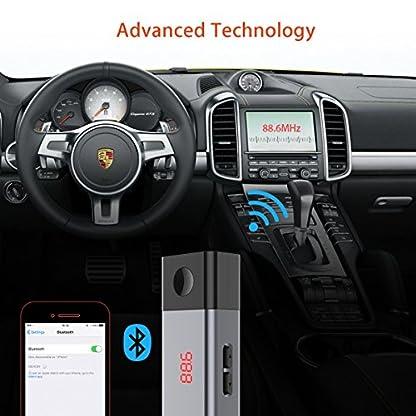 Bluetooth-FM-Transmitter-Doosl-KFZ-Wireless-Auto-Radio-Bluetooth-Adapter-Car-Kit-Kfz-Einbausatz-FM-Modulator-Musik-Empfnger-mit-USB-Ladegert-fr-iPhone-Samsung-Android-LED-Anzeige-700mAh-Li-Polymer