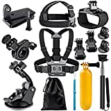 Brain Freezer J 12 In 1 Sports Action Camera Accessories Kit For Gopro Hero 5, Black