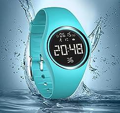 Contatore di calorie, IP68Swim orologio impermeabile Activity Tracker con contapassi/accuratamente Track passi/distanza/calorie/orologio/timer per camminare corsa bambini unisex non-Bluetooth (need)