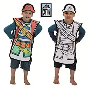Villa carton - Costume de Pirate en coton à colorier