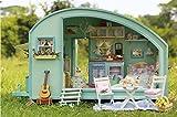 DIY Holz Puppenhaus, Handwerk Miniatur kit-caravan Modell & Möbel