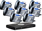 X16 Small office phone system is an easy to install Digital small office telephone system that comes equipped with the X16 Voice Server and eight- 6 line X16 Digital speakerphones in the fashion color- Charcoal.This designer series phones are attract...