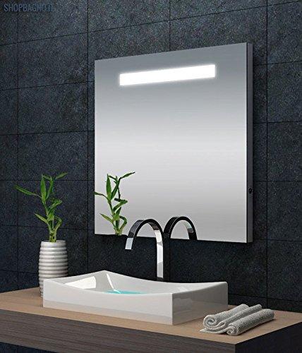 Specchio da bagno 80x80 illuminazione integrata imf1 - Illuminazione da bagno ...